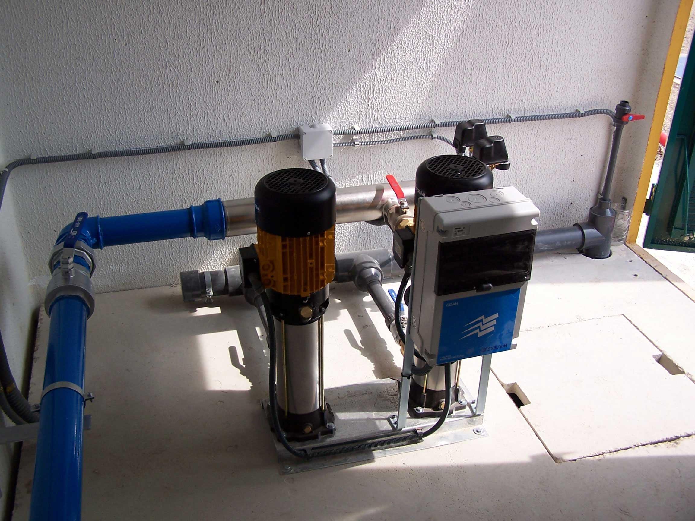 Grupo de presion de agua para edificios simple control for Grupo de presion de agua para edificios